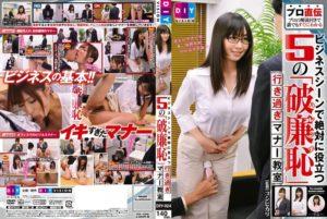 [DIY-024] ビジネスシーンで絶対に役立つ5の「破廉恥」行き過ぎマナー教室 Toy 加納綾子 騎乗位 おもちゃ Kanou Ayako