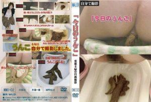 [MMO-02] Scat. 排便の女の子トイレで糞のパターン。