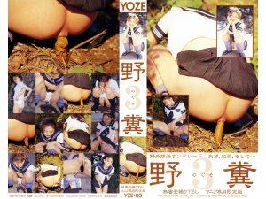 [YZE-03] Defecation. 女子高生ヨーコはおもらし、屋外でうんち。
