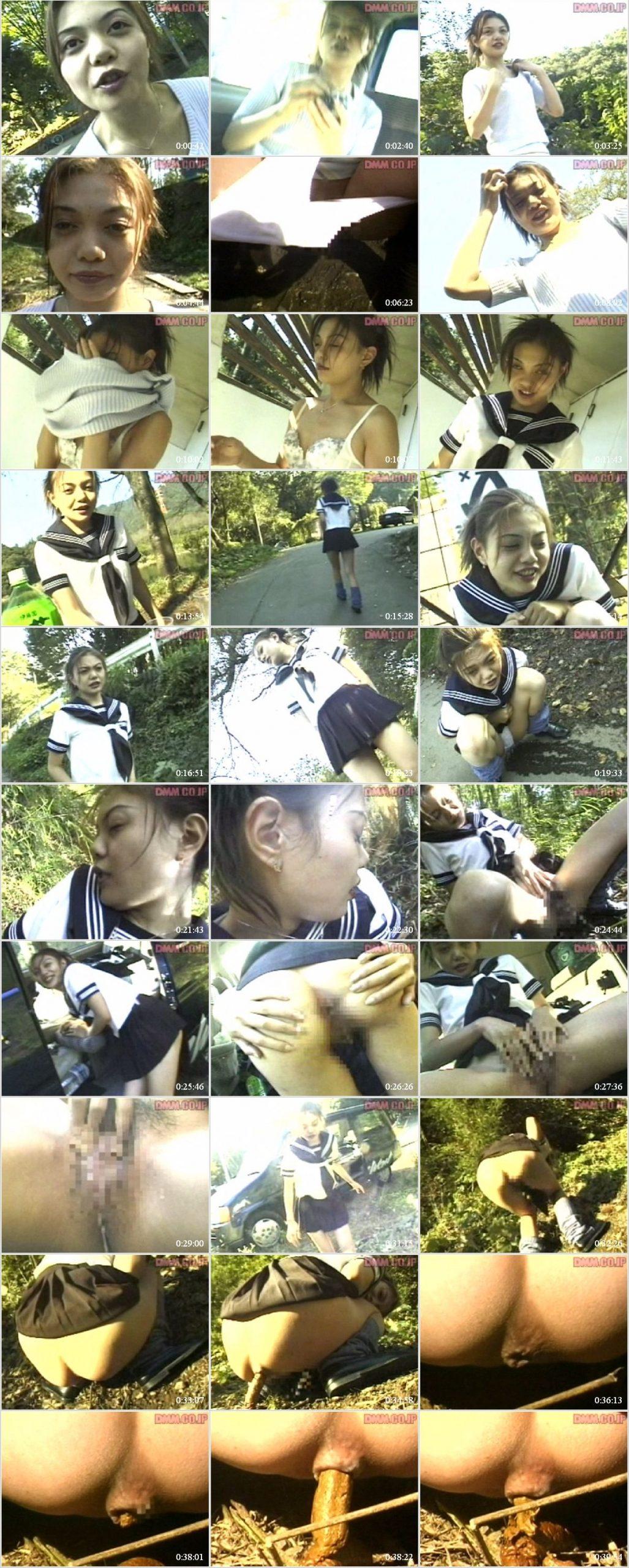 YZE 03 t scaled - [YZE-03] Defecation. 女子高生ヨーコはおもらし、屋外でうんち。